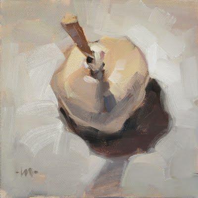 """White Bulb"" original fine art by Carol Marine"
