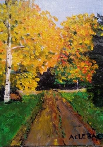 """Down the Road"" original fine art by Jo Allebach"