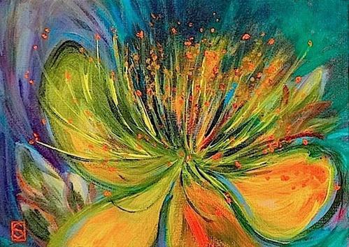 """""""4100 - Butter up Buttercup"""" original fine art by Sea Dean"""