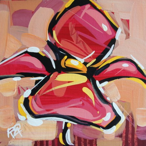 """Flower Abstraction 128"" original fine art by Roger Akesson"