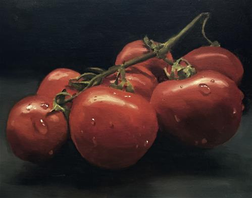 """Tomatoes"" original fine art by James Coates"