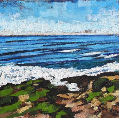 """Cabrillo Seascape"" original fine art by Kevin Inman"