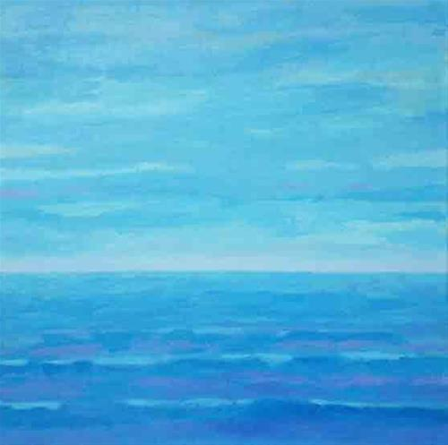 """Ocean Blues"" original fine art by Bobbi Heath"