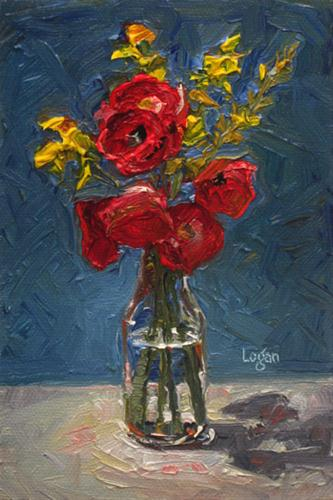 """Icelandic Poppies"" original fine art by Raymond Logan"