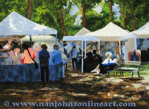 """At the Craft Fair"" original fine art by Nan Johnson"