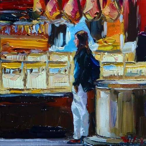 """On the market"" original fine art by Jurij Frey"