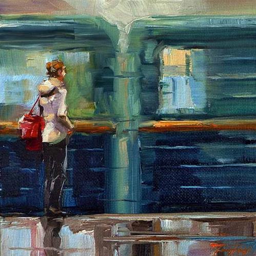 """Metro"" original fine art by Jurij Frey"