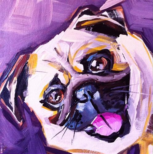 """Pug Life"" original fine art by Teddi Parker"