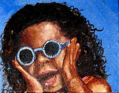 """Surprise!"" original fine art by Marcia Hodges"