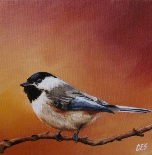 """Chickadee"" original fine art by ~ces~ Christine E. S. Code"