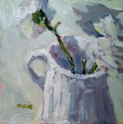 """white on white"" original fine art by Shelley Garries"