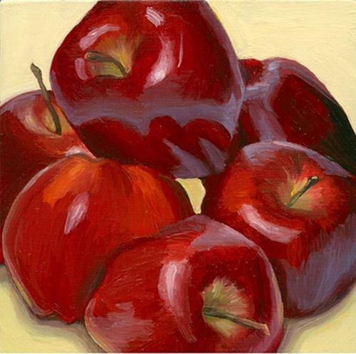 """Apple cluster"" original fine art by Jean Wilkey"