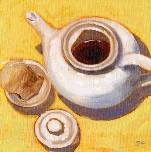 """English Breakfast Tea"" original fine art by Sandy Haynes"