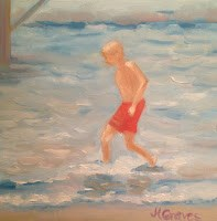"""Something's In The Water"" original fine art by J H Graves"