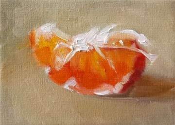 """Tangerine Slice"" original fine art by Cindy Haase"