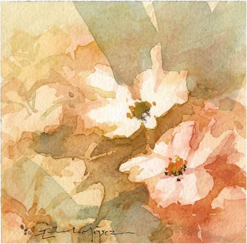 """""""flores 31"""" original fine art by Emilio López"""