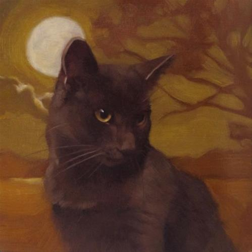 """Moonlit Coco (again) better picture this time!"" original fine art by Diane Hoeptner"