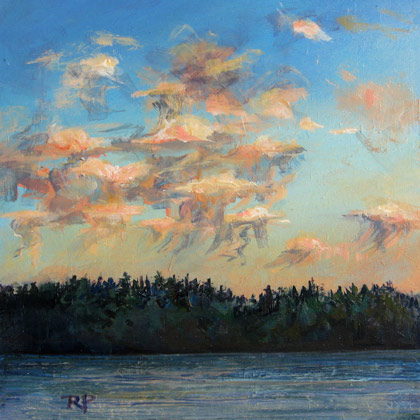 Jellyfish Clouds original fine art by Robin Peterson