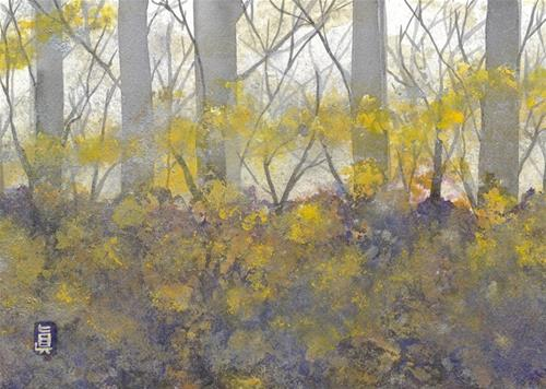 """End of Autumn"" original fine art by Mariko Irie"