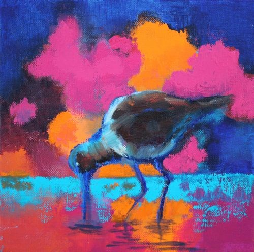 """Sea Bird 2, Bird Paintings by Arizona Artist Amy Whitehouse"" original fine art by Amy Whitehouse"