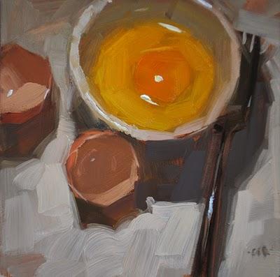 """Regular Egg"" original fine art by Carol Marine"