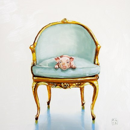 """this little piggy"" original fine art by Kimberly Applegate"