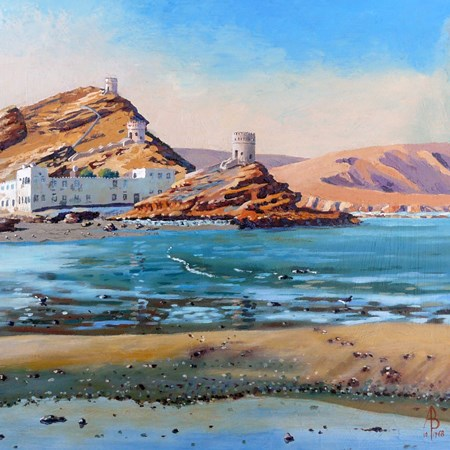 """Sur, Oman"" original fine art by Alix Baker"