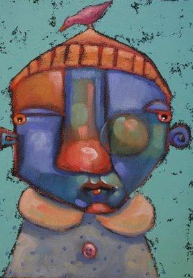 """Feather Brain"" original fine art by Brenda York"