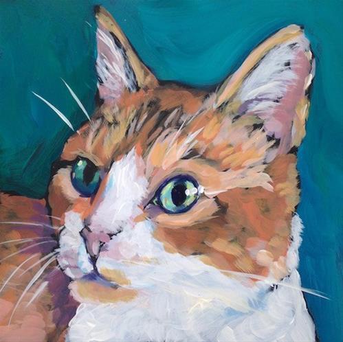 """March 26, Garfield!"" original fine art by Kat Corrigan"
