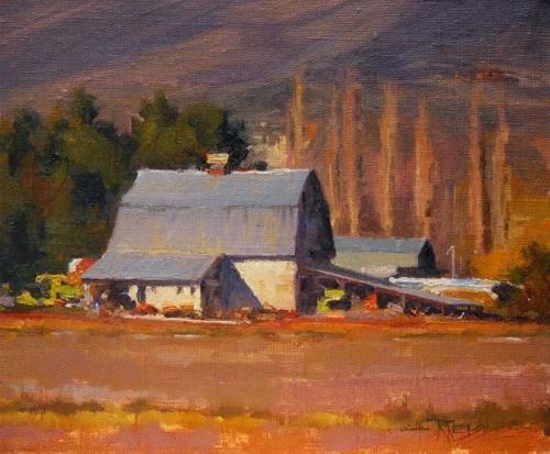"""Cascade Mountain Farm  landscape oil painting by Robin Weiss"" original fine art by Robin Weiss"