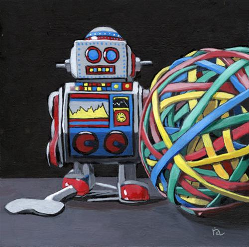 """Desktop Toys"" original fine art by Ria Hills"