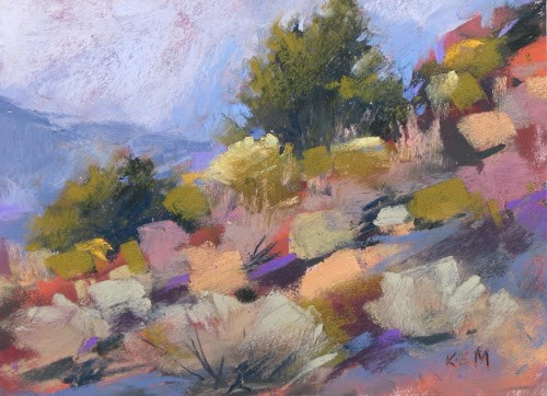 """The Majesty of Zion....Deciding What to Paint"" original fine art by Karen Margulis"