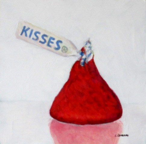 """Kisses"" original fine art by Linda Demers"