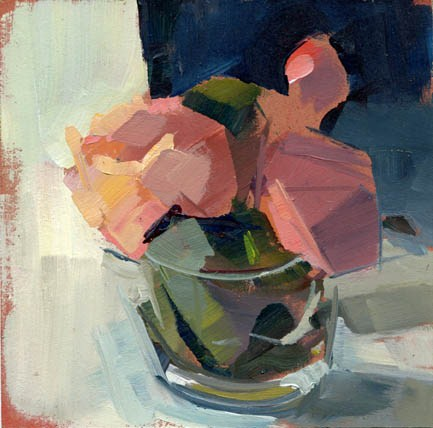 """#1153 Peonies in a Cup"" original fine art by Lisa Daria"