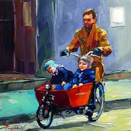 """""""Männer unterwegs"""" original fine art by Jurij Frey"""