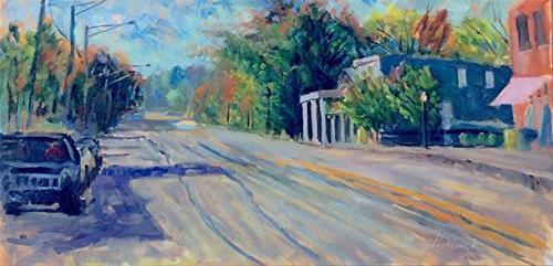"""Main Street en Plein air"" original fine art by Daniel Fishback"
