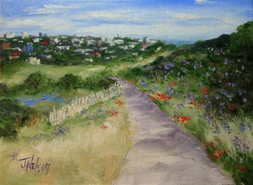 """View of Edinburgh, Scotland"" original fine art by Jean Nelson"