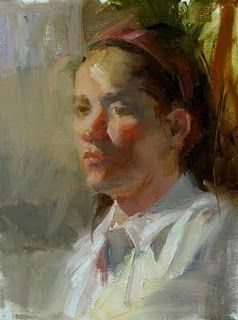 """Study with Carolyn Anderson 2"" original fine art by Qiang Huang"