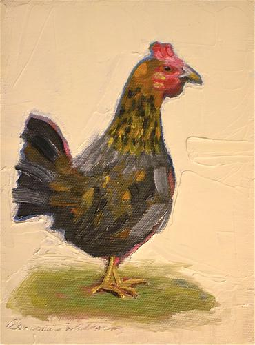 """Gallina"" original fine art by Donna Walker"