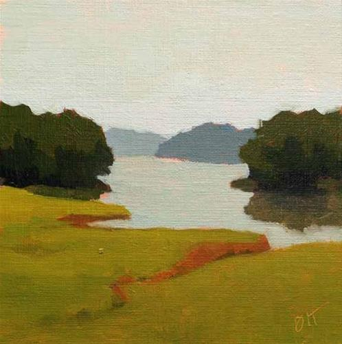 """Tidewater Reflection"" original fine art by Bobbi Heath"