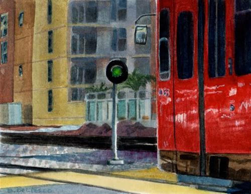 """Watercolor: Free Ride (& pics from the Sierra Madre Art Fair)"" original fine art by Belinda Del Pesco"