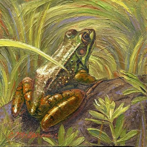 """Frog Day"" original fine art by Connie McLennan"