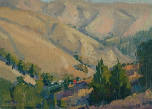 """Winter in Muir Beach"" original fine art by J. Thomas soltesz"