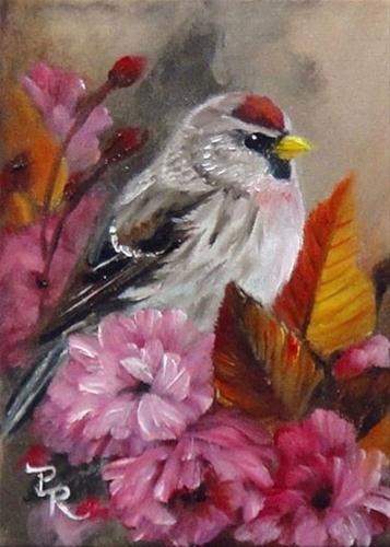 """Plum Blossom Cozy"" original fine art by Paulie Rollins"