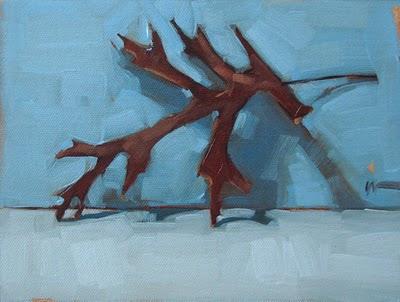 """""""Fall Leaf"""" original fine art by Carol Marine"""
