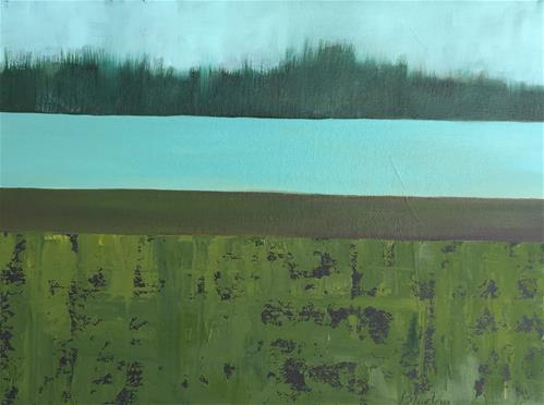 """The Lake"" original fine art by Janet Bludau"