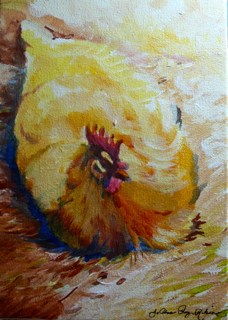 """Lady Hen"" original fine art by JoAnne Perez Robinson"