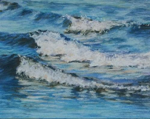 """Wave Reflection"" original fine art by Linee Baird"