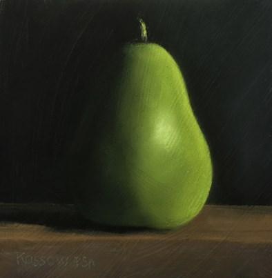 """Pear I"" original fine art by Cristine Kossow"