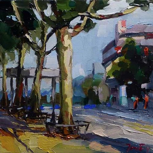 """streets of Stuttgart"" original fine art by Jurij Frey"